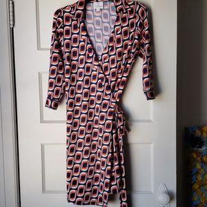 NWOT JB Julie Brown NYC printed wrap dress